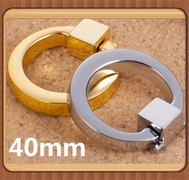 Silver Color/ Golden Color Single Hole Ring knob handle Zinc alloy Kitchen Furniture handle drawer pulls<br><br>Aliexpress