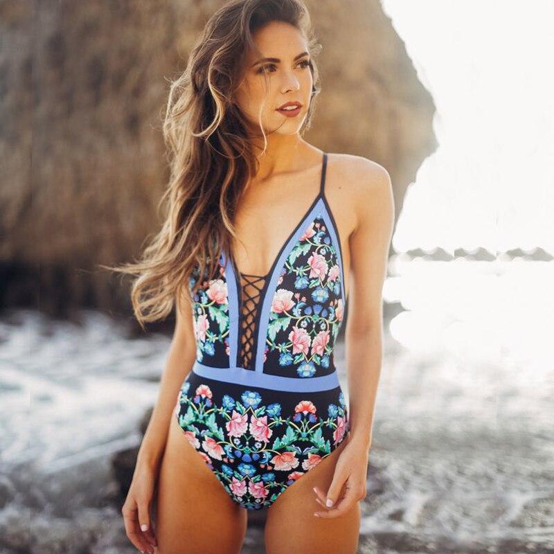 five head swimwear women large sizes one piece swimsuit sexy swimwear for girls swimwear women 2017<br>