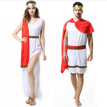 new Couple Greek Roman queen costume Arabic Julius Caesar Roman goddess prince Fancy party dress Halloween clothing for Couple