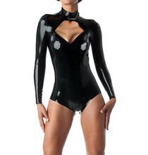 Buy Back Zip Latex Tracksuit Latex Girls Leotard Keyhole