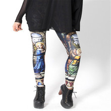 HOT! SEXY! leggings for women junior leggings Milk Leggings CATHEDRAL LEGGINGS Digital Print Pants OEM(China)