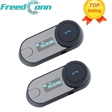 2 pcs FreedConn TCOM-SC BT Bluetooth Motorcycle Helmet Intercom Interphone Headset with LCD Screen + FM Radio