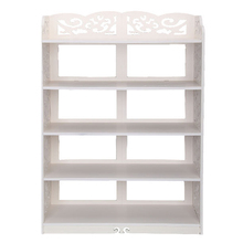 AIMA 5 Tier Display Shoes Storage Organizer Rack Stand Shelf Holder Unit Shelves  white