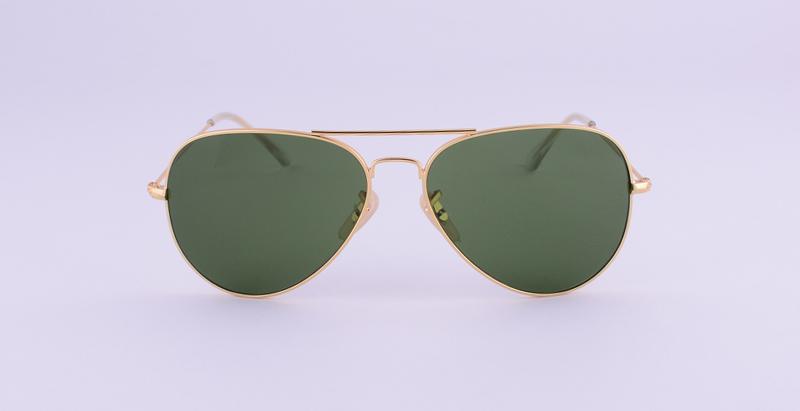 Hot Classic Brand Aviator glass lenses Gradient sunglasses men women Mirror sun glasses Male 58mm G15 lens gafas de sol mujer 29