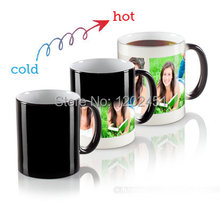 Drop shipping Personalized Magic Mug, Custom Magic Photo Mug,Heat Color Changing Mug