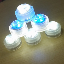 1PCS 3LEDs Waterproof Submersible Floating Candle Light For Xmas Party Decoration Lamp