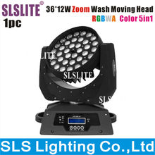 China new led dmx 5in1rgbwa case 36 led moving head wash led dj effect light 36pcs 5in1 wireless dmx zoom Moving head wash led