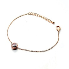 Gold-color zircon bracelets for women simple thin bracelet fashion jewelry wholesale female gift