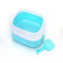 Indoor Pet Toilet Cat Litter Tray Bag Shovel Plastic Cat House Sand Scoop Pee Arenero Gato Cerrado Pet Potty Training 50M0058