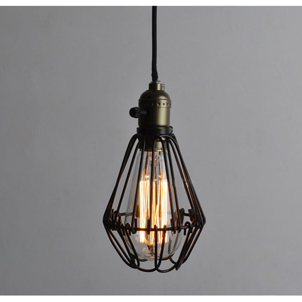 Free Shipping EDISON VINTAGE PENDANT LIGHT Rustic Wire Cage light Suitable for Bedroom,Study Room<br><br>Aliexpress