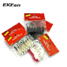 7pcs Soft 4.42cm 1.75g Fishing Lure Lead Jig Head Hook Grub Worm Soft Baits Shads Silicone Fish Lures Fishing Tackle