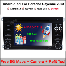 Pure Android 7.1 Car DVD for Porsche Cayenne 2003 2004 2005 2006 2007 2008 2009 2010 With Quad Core Bluetooth GPS NAVI Radio