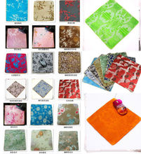 Wholesale2PCS 22*2cm Chinese Style Handmade Vintage Silk Brocade Rubber Mouse Pads Mat(China)