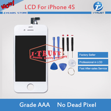 White Glass Touch Screen Digitizer & LCD Assembly Replacement For iPhone 4S & Tools & Freeshipping(China)