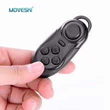 Buy Moveski 001 Bluetooth Gamepads Game Controller Joystick Selfie Remote Shutter Wireless Mouse iOS Android Smartphone TV Box for $3.91 in AliExpress store