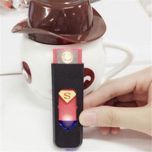 Home Use Empty Rechargeable USB Battery Cigarette Flameless Lighter Windproof No Gas Electric