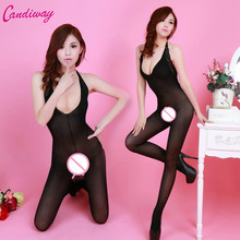 Buy Hot Sexy Lingerie Black Body stockings Sexy Men's Body Pantyhose Open Crotch Tight Stockings Transparent Pantyhose Sexy Costumes