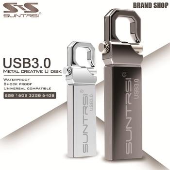 Suntrsi Металла флэш-Накопитель 8 Г 16 Г 32 Г 64 Г USB 3.0 Flash Drive Высокая Скорость Водонепроницаемый Флешки Брелок Памяти Memory Stick USB Flash диск
