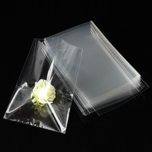100pcs Wedding Candy Gift Clear Bags Party Chocolate Lolipop Cellophane Cello Bag Marriage Celebration