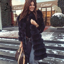 Buy FURSARCAR Women Warm Winter Coat Fox Fur Coat 100% Genuine Leather Natural Fox Fur Coat Female Long Overcoat Real Fur for $475.00 in AliExpress store