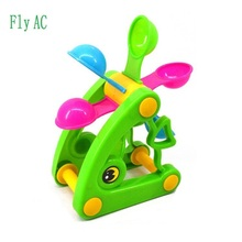 Fly AC 1 pcs Fish Beach Toys,Waterwheel/Wheel Type Dabbling Toy, Hourglass,Favorite baby gift