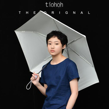 Tiohoh Brand Folding Umbrella Men Women Sunscreen Automatic Rain Umbrellas Anti UV Color Coating Simple Quality 6K Parasols(China)