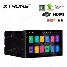 "XTRONS 2 Din 7"" HD Quad Core 16GB ROM 2G RAM Android 7.1 Digital Touch Screen HDMI Universal Car Stereo Radio DVD Player"