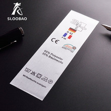 Customized garment labels clothing labels/printed cotton label/Trademark manufacture woven &printed tags Free Shipping