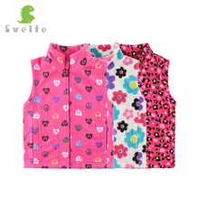 Svelte Brand Spring Fall Autumn Winter Children Girls Fleece Vest Kids Boys' Woolen Prints Waistcoat Vetement Enfant Gilet Veste