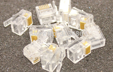 RJ11 6P6C Modular Jack Network Male Plugs, 6 Pin, Telephone Connector