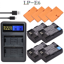 4x decoded lpe6 bateria lp e6 E6N LP-E6N LP-E6 battery + dual charger for Canon 5D Mark II Mark III 6D 7D 60D 60Da 70D 80D DSLR