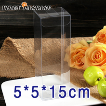10 pcs/lotSpot box 5*5*15cm high quality clear box / PVC box / green product / candy box 100% guarantee