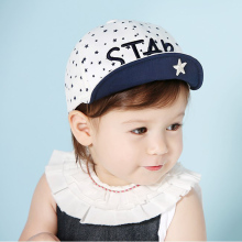 1 Piece Baby Hat Girls Boys Embroidery Baseball Cap Infant Summer Cotton Unisex Cute Autumn Star Kids Children(China)