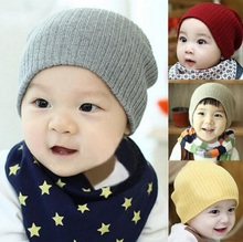 2017 Crochet Fashion Knitting Warm Baby Hats Caps Kids Pure Candy Color Children Beanies Boys Girls Hats Cloth Accessories