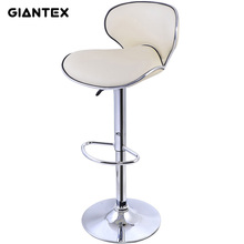 GIANTEX PU Leather Modern Adjustable Bar Stool Swivel Chair Bar Chair Commercial Furniture Bar Tool HW50135BE
