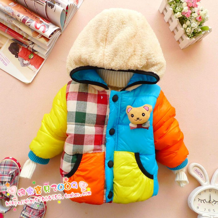 Childrens clothing male winter child  child thickening cotton-padded jacket male child baby plus velvet wadded jacketОдежда и ак�е��уары<br><br><br>Aliexpress