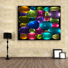 HDARTISAN Canvas Art Mosaic Stained Glass IV Modern Painting Home Decor Wall Pictures For Living Room No Frame