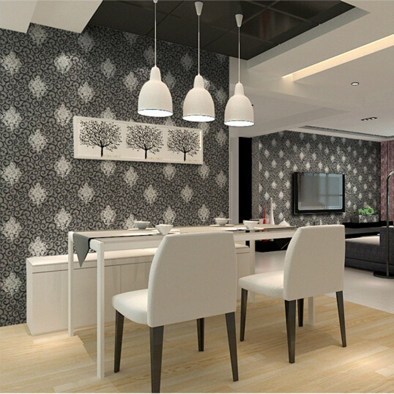 beibehang High Quality Europea Style Pvc Wallpaper Embossed Floral Pattern Wall Paper Home Decoration 3D Wallcovering Roll R514<br>