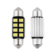 2pcs Festoon 8 SMD 39MM Car LED Bulbs Interior Dome Festoon Lights auto roof lamp White 12V hot selling