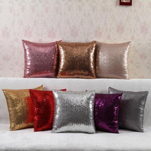 ISHOWTIENDA 40*40cm Reversible Solid Sequin Throw Pillow Cushion Cover Car Home Decoration Sofa Bed Decor Decorative Pillowcase