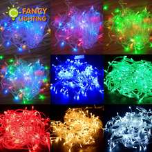 10M 220V 100 led fairy light colorful string Lights Christmas light led lamp for home festival holiday wedding party decoration(China)