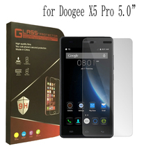 DOOGEE X5 Tempered Glass 100% Original Premium Screen Protector Film Accessories For X5 Pro Cell Phone + Free shipping(China)