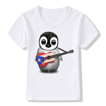 Puerto Rico Flag Logo Print Funny Children T-shirt Summer Short Sleeve Baby Kids Tops Tees Casual Cute Boys/Girls Clothes,HKP452