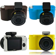 Silicone Rubber Camera Protective Cover Case Skin For Samsung NX3000 20-50mm Black White Pink Blue Yellow Brown 6 Colors