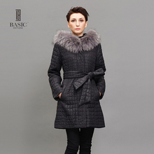 BASIC EDITIONS Womens Winter Jackets and Coats Long Slim Parka 3M Thinsulate Warm Parka Clothing 13W-52D(China)
