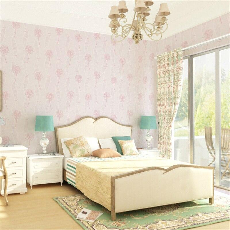 beibehang Modern fashion dandelion wallpaper living room non - woven wall paper papel de parede 3d para sala atacado papier<br>