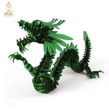 Halloween Decoration 3d Puzzle Dragon Paper Craft Kid Toy for Children'Day Gift Supply DIY Chinese Zodiac Animal Cardboard Model