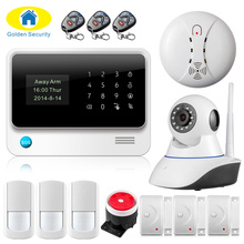 Wireless WiFi Camera GSM GPRS SMS Home Security Alarm System English/Russian/Spanish/French/Turkish/Netherlands/Swedish Voice