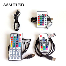 1Pcs High Quality 3Key / 24Key IR / 44Key IR / 17Key RF Remote USB LED Controller For SMD 3528 5050 5V USB RGB LED Strip light(China)