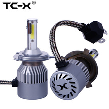 TC-X Stable 12V 30W Output Power Car Headlights H4 Hi/Lo 9003 HB2 Dual Bi Beam 360 Beam Angle Curve with Lens LED Light Bulbs